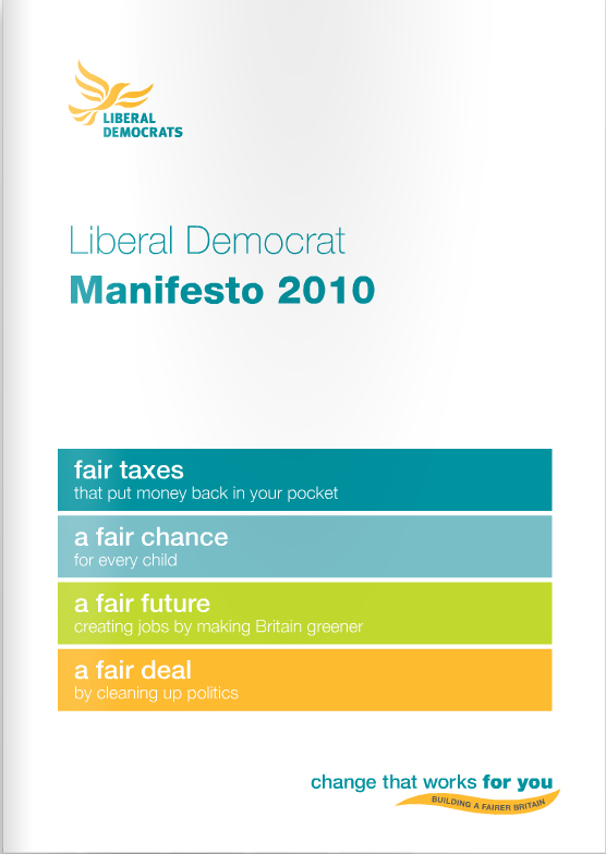 The 2010 General Election Manifesto