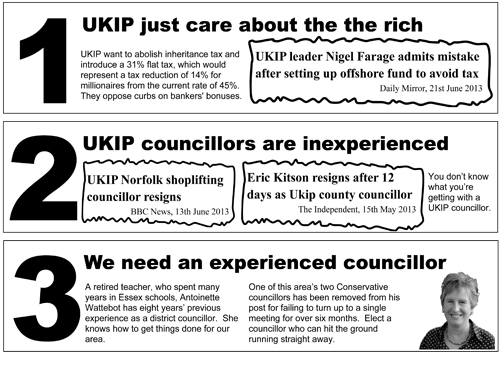 Uttlesford By-Election Leaflet – Challenging UKIP
