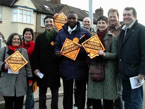 Lib Dem campaigners in Lewisham