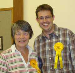 The victor Sue Henchley and PPC Chris Coleman
