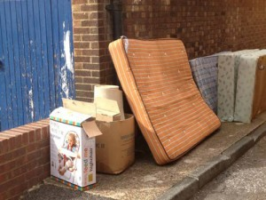 Fly Tipping in Southwark, which statistics show has increased massively under Labour