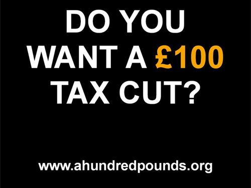 £100 Tax Cut – Website and Social Media Materials