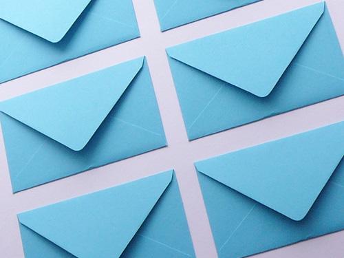Blue and cream envelope bulk buy