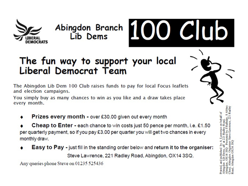100 Clubs are a great way to have fun whilst raising funds for local campaigns