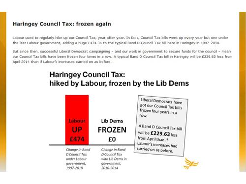 Best Practice: Haringey Lib Dems Council Tax Campaign