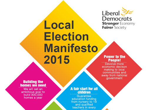 Lib Dems 2015 Local Election Manifesto Launched