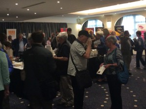 Our exhibition stands encouraged delegates to meet and engage with a diverse range of campaigning and interest groups