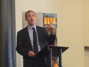 Leadership candidate Tim Farron MP addresses the 2015 Lib Dem Local Government Conference