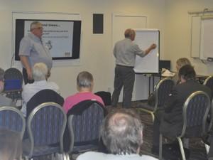 LGA Lib Dems training with Cllrs Howard Sykes (Oldham) and Alan Connett (Teignbridge)