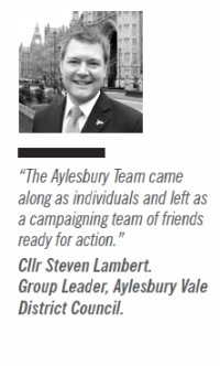Aylsebury Vale Group Leader Cllr Steven Lambert on bringing his team to Kickstart