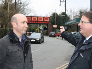 Cllr Iain Roberts (left) on the importance of reaching out to your local voters