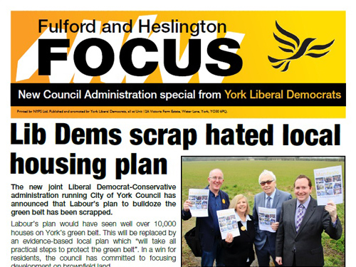 York Lib Dems explain the city's new administration