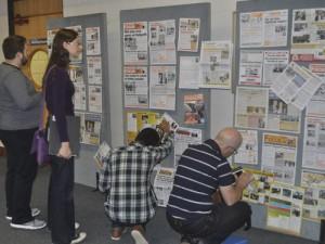 Kickstart attendees review the Focus Wall