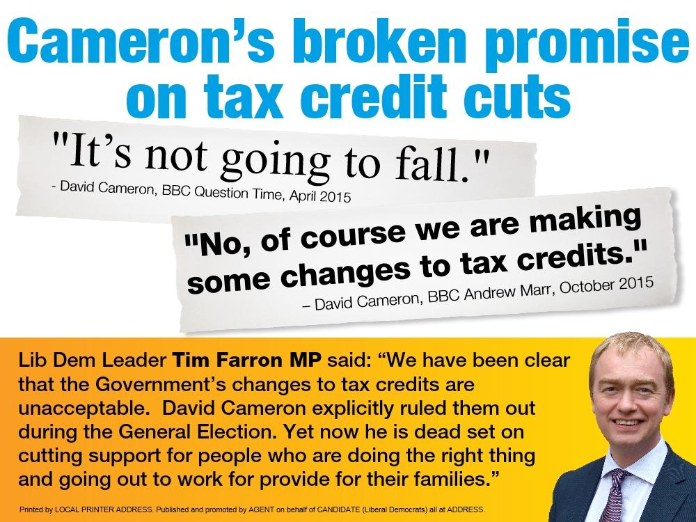 Campaign Extra – Tax Credit Cuts