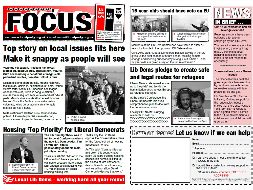 LATEST ALDC TEMPLATES: A4 FOCUS LEAFLET