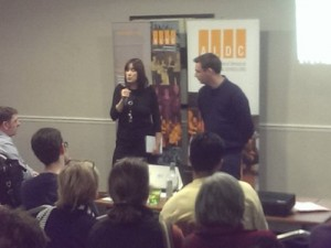 Montgomeryshire Lib Dems presenting their campaign plan at Kickstart 2015