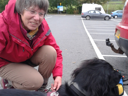 Community councillor Jackie Charlton and Lucie the hearing dog
