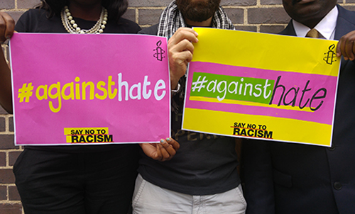Supporting Amnesty International's #AgainstHate Campaign