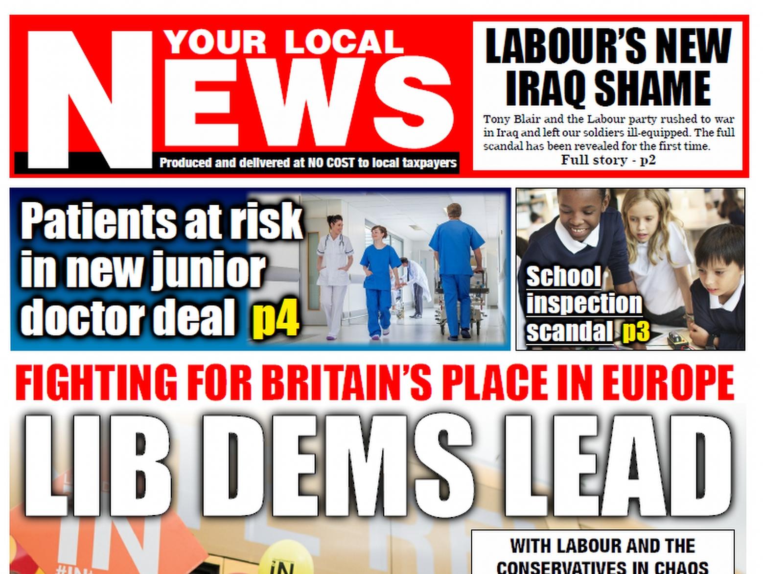LDHQ – Post- Referendum Tabloid Templates