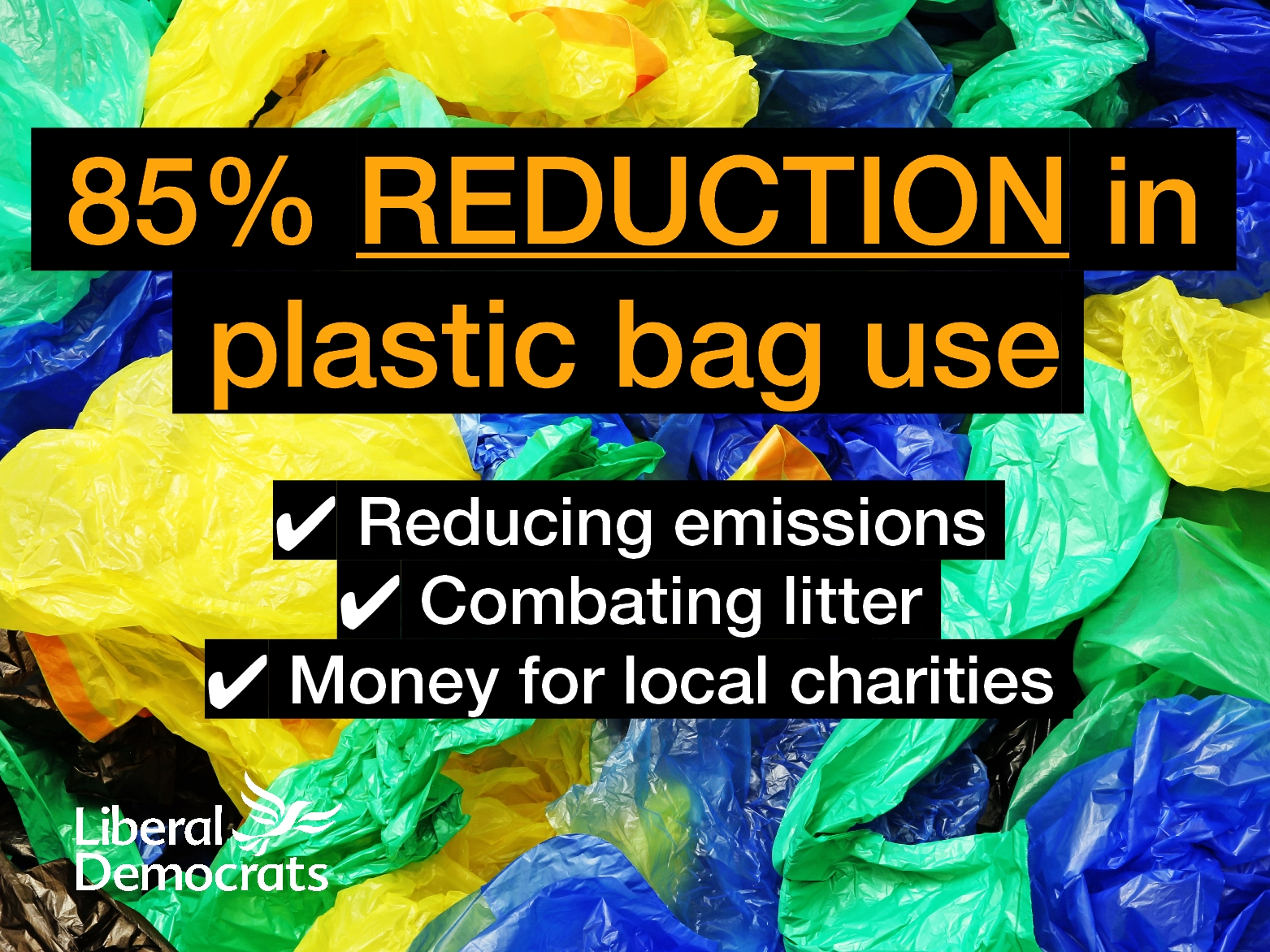 Plastic Bag Charge Win for Lib Dems
