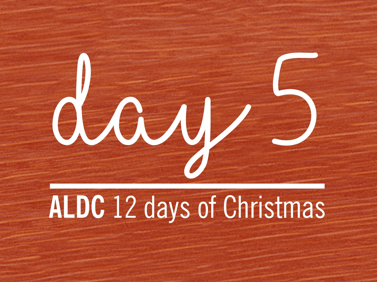 On the fifth day of Christmas, ALDC gave to me…