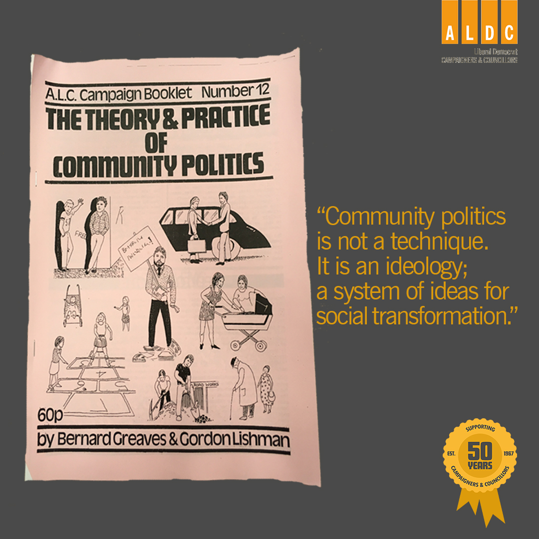 August 1980: The Theory & Practice of Community Politics booklet