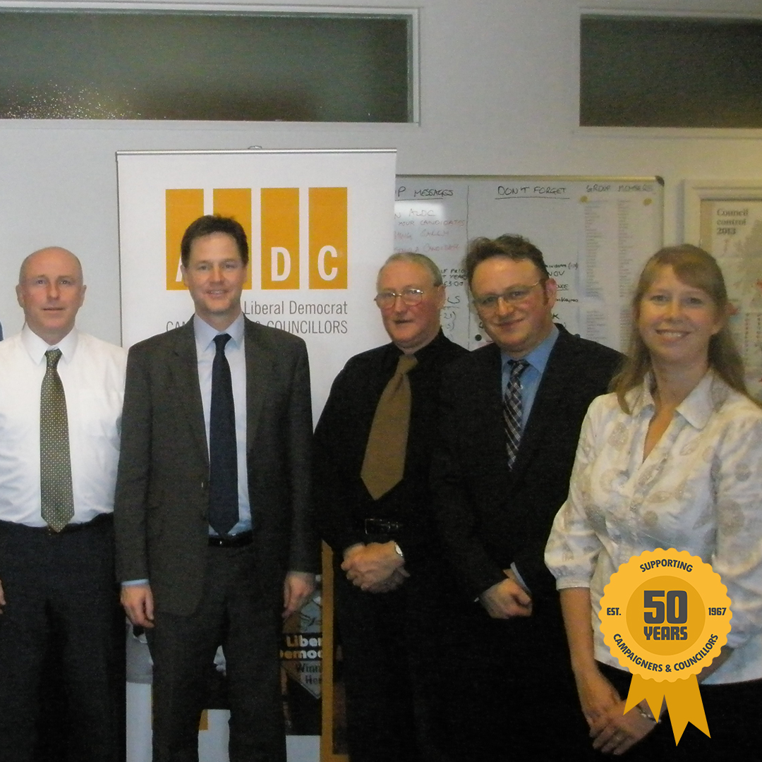 February 2014: Nick Clegg came to visit us in Manchester
