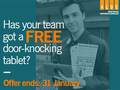 Offer ending: Has your team got a FREE door-knocking tablet?