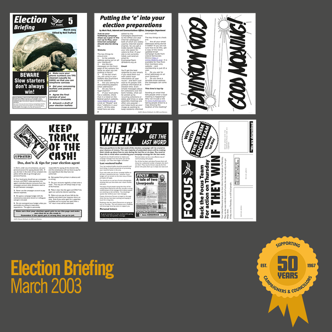 March 2003: Election Briefing