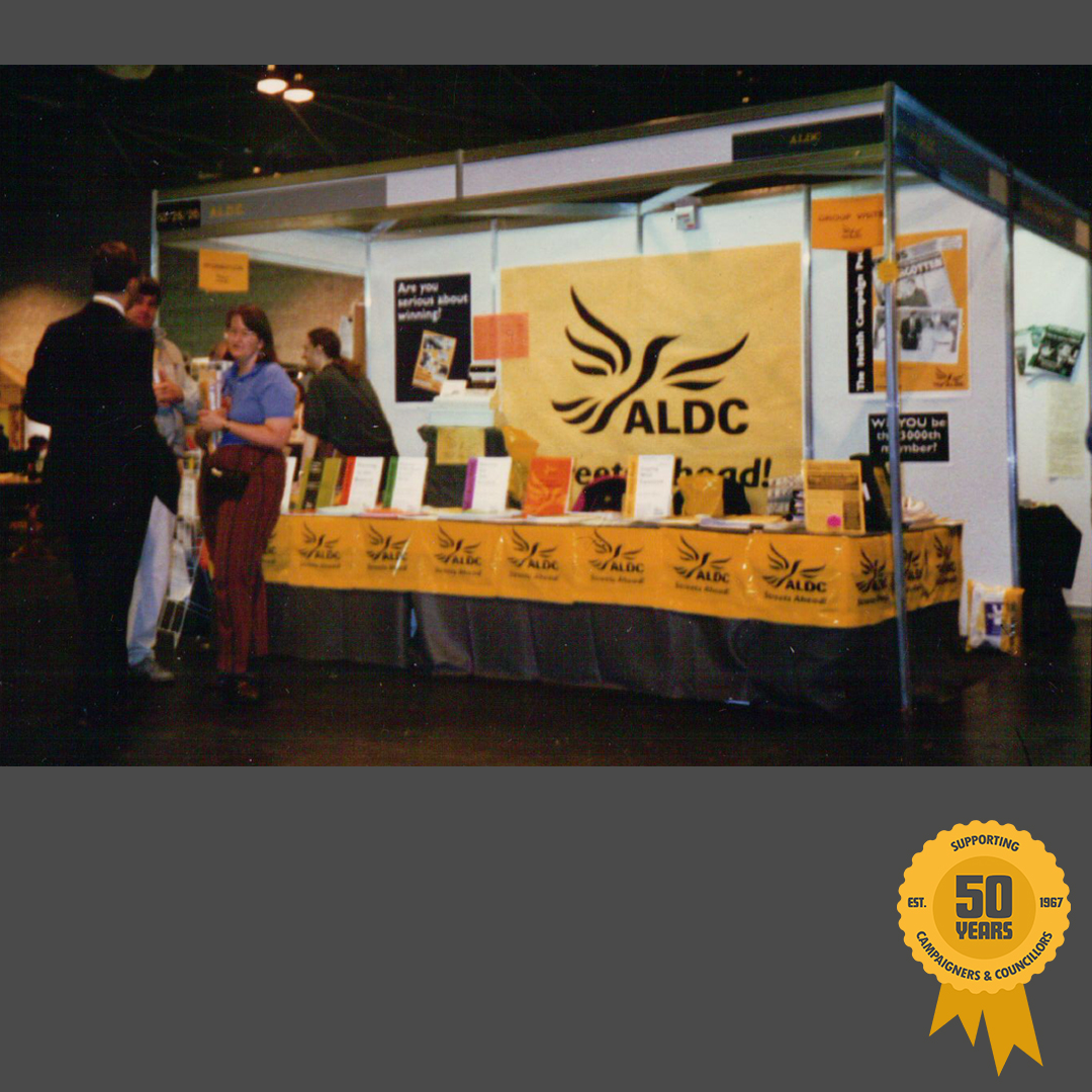 Mid-90s ALDC conference stand