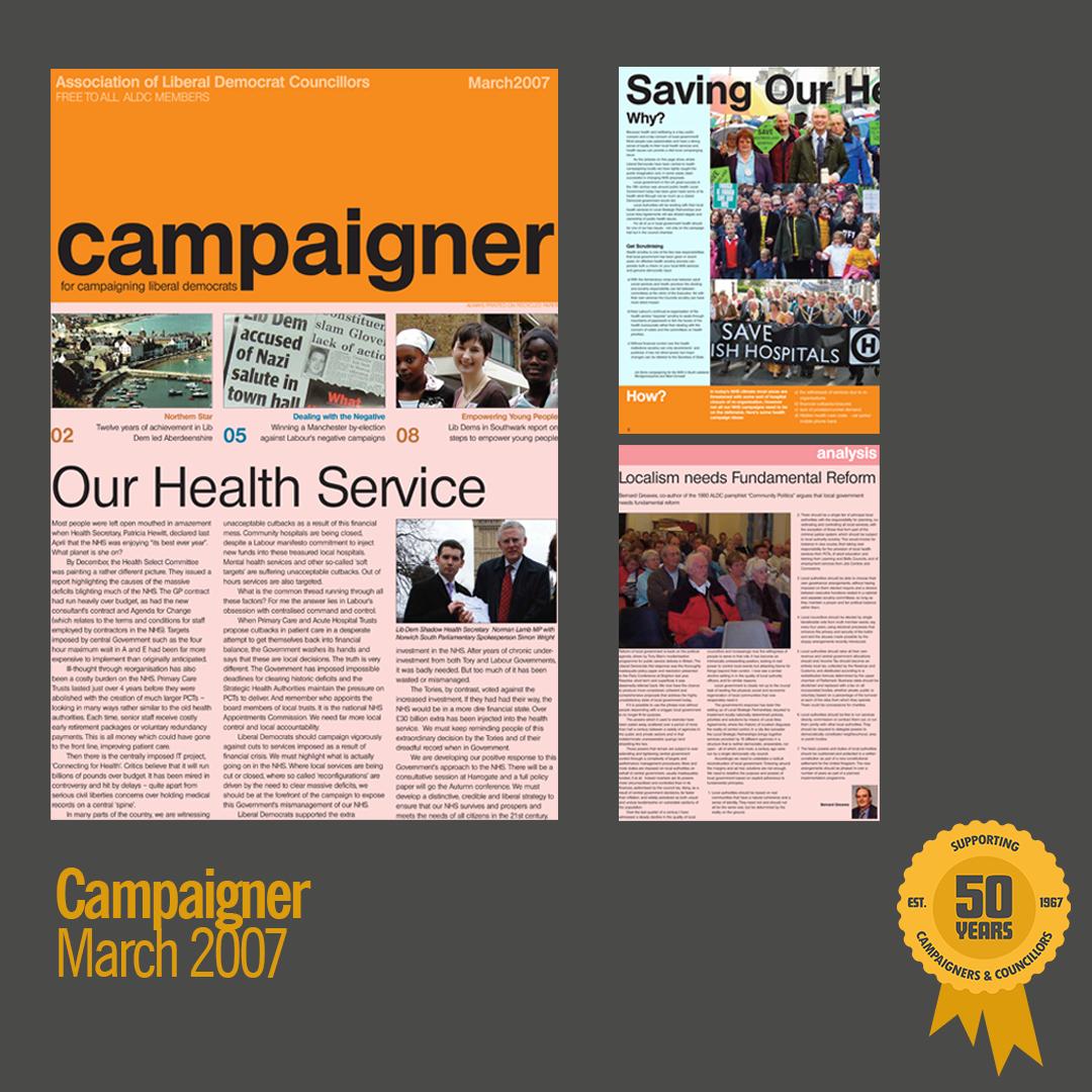 March 2007: Campaigner