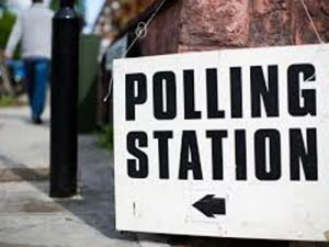 Polling station sign pic
