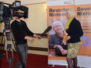 Bev mayoral launch pic