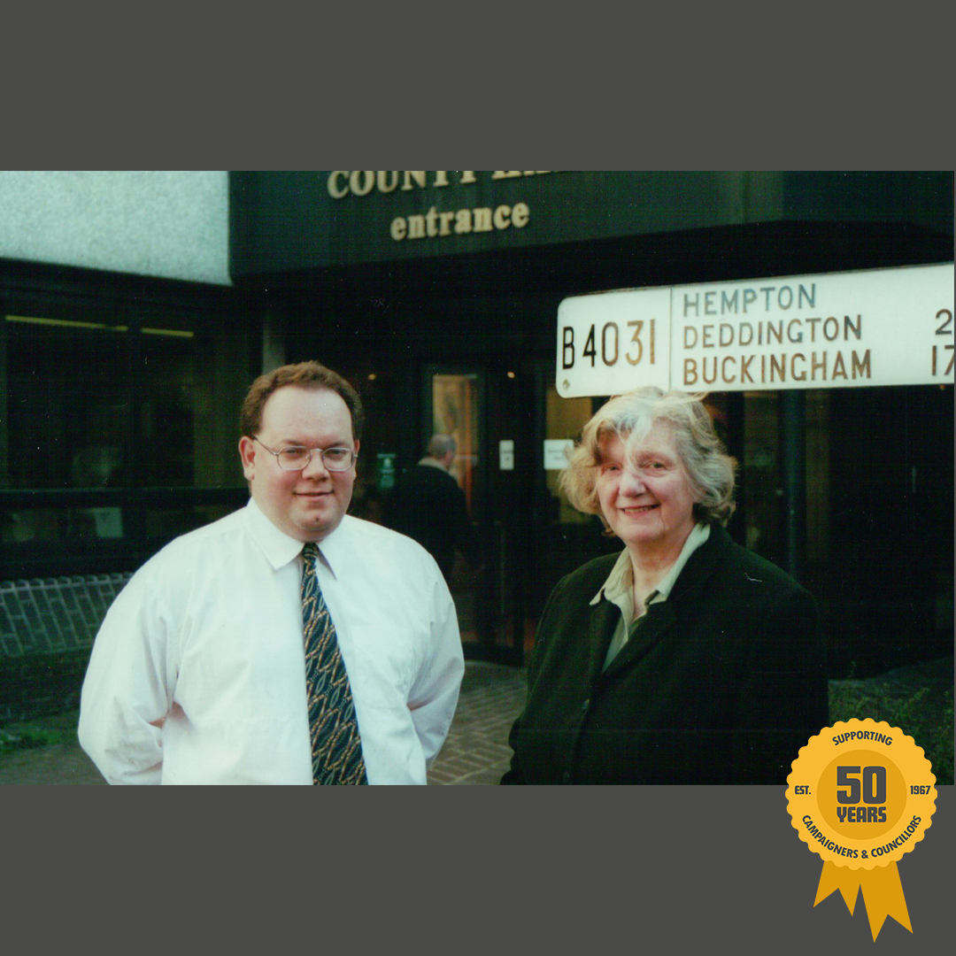 2001: Neil's re-election onto Oxfordshire County Council