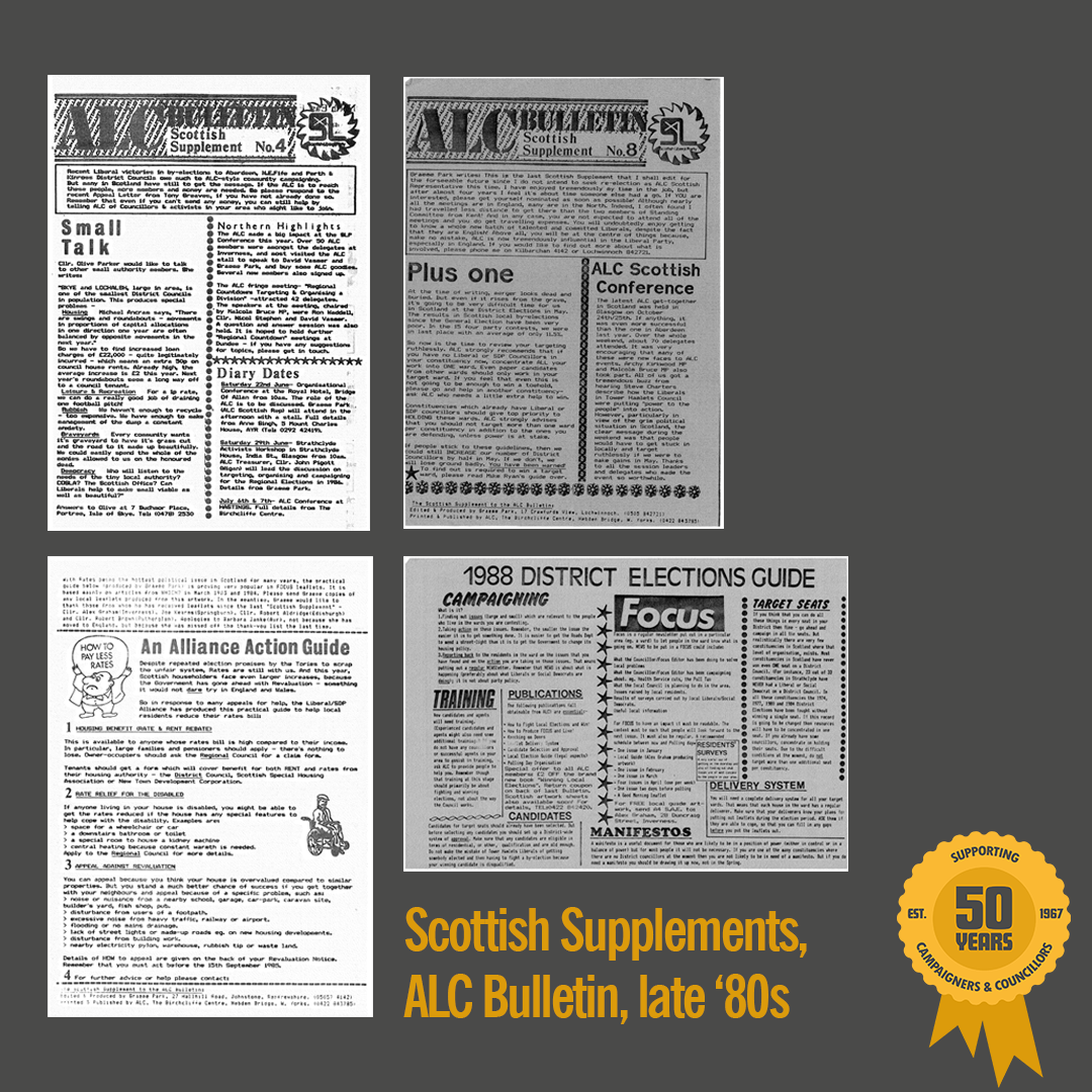 Scottish Supplements, ALC Bulletin, mid to late 1980s
