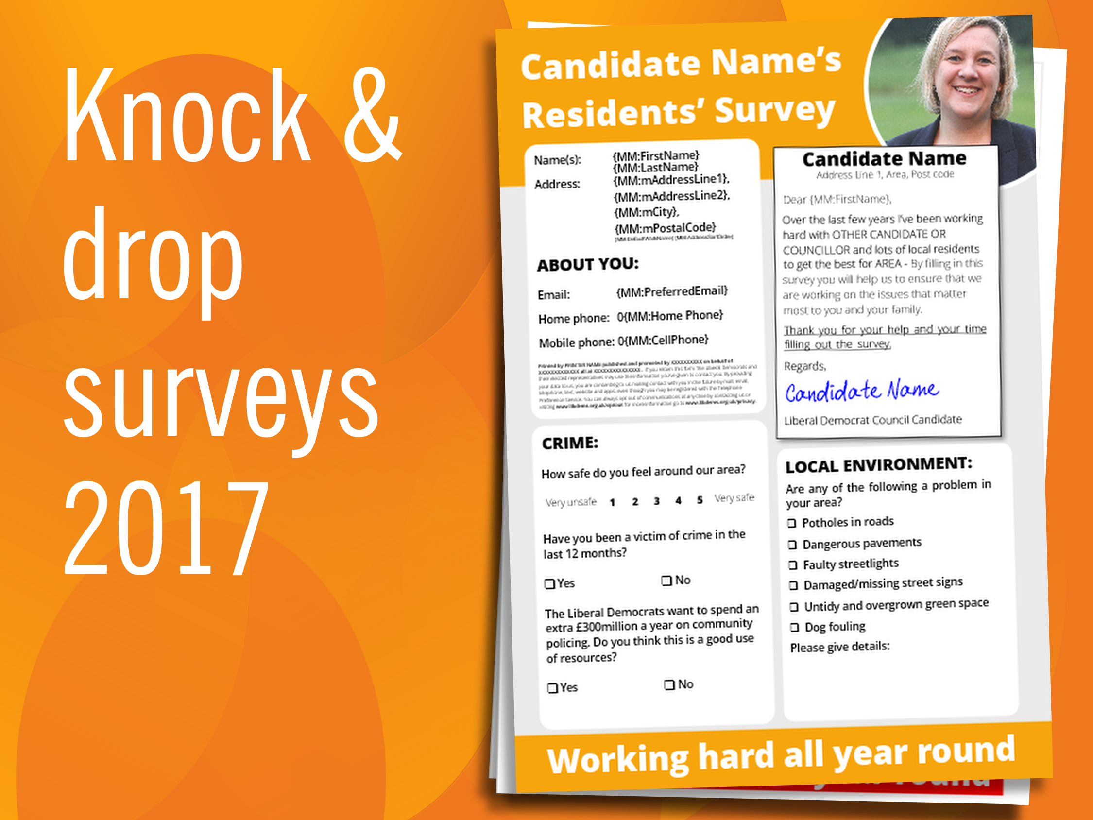RESOURCES: Knock and drop survey templates