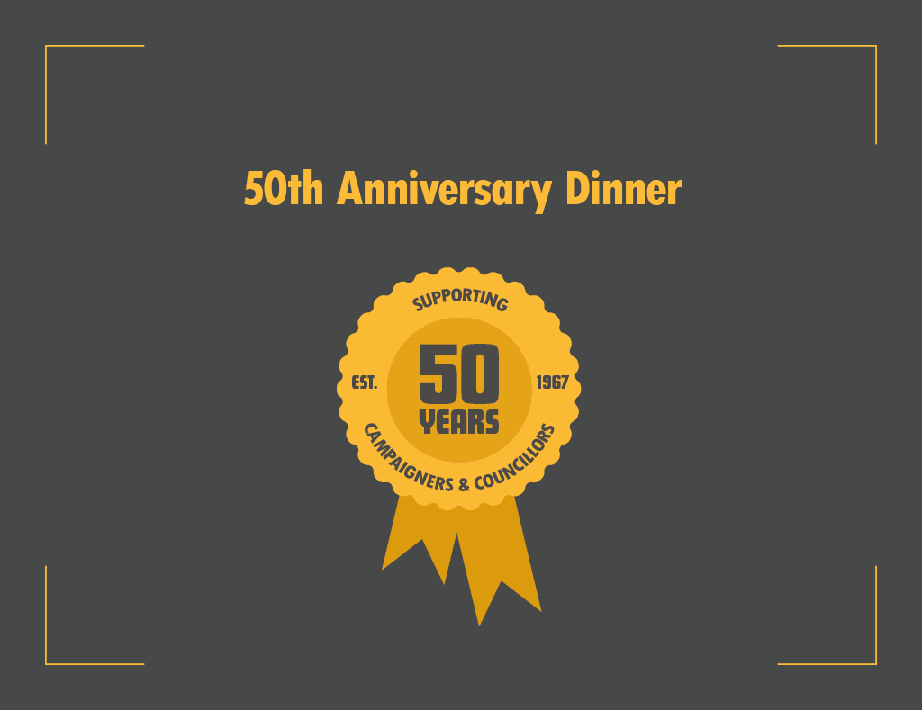 Come to our 50th anniversary celebratory dinner