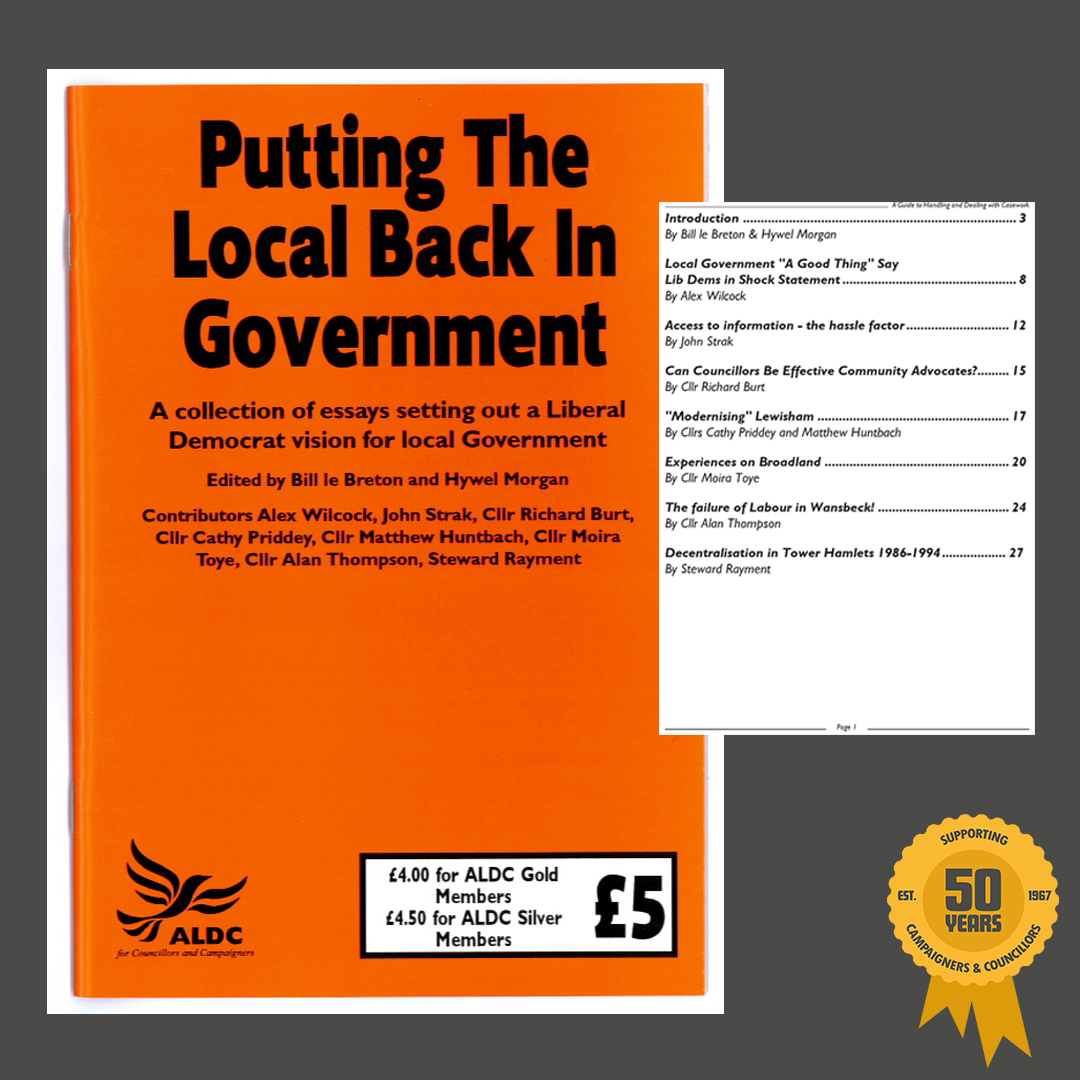 Putting the Local back in Government, 2001