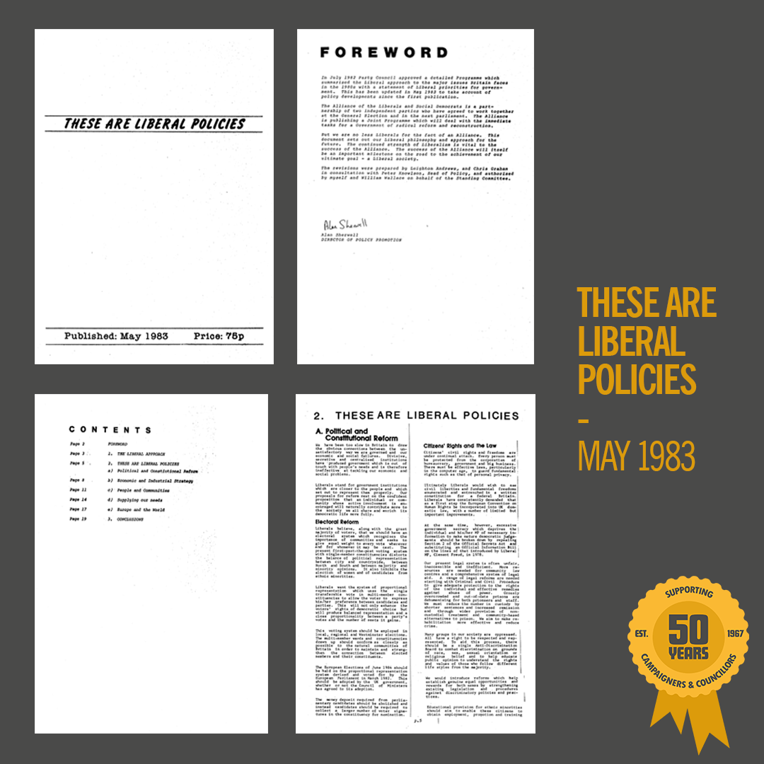 These Are Liberal Policies, May 1983