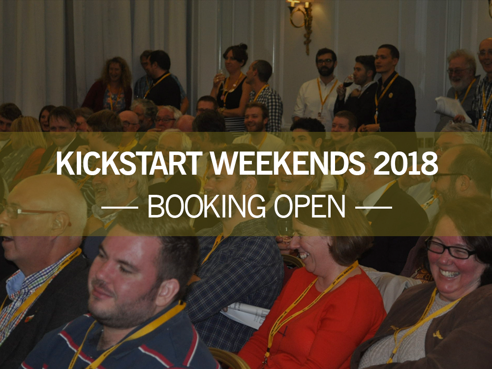 Autumn Kickstart Weekend 2018: 23-25 November
