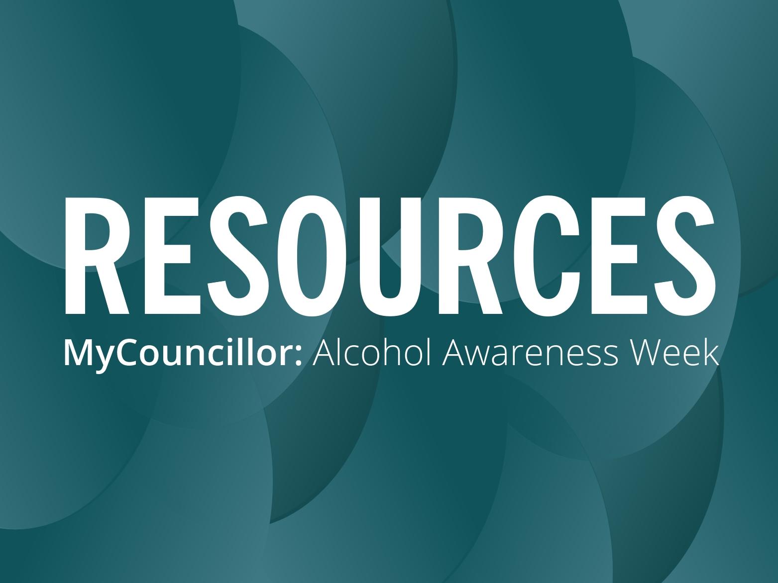RESOURCE: Alcohol Awareness Week, 13-19 November