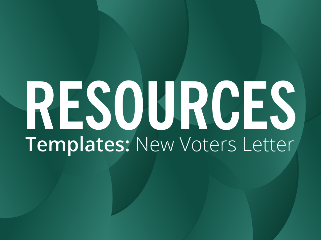 RESOURCES: New Voters letter