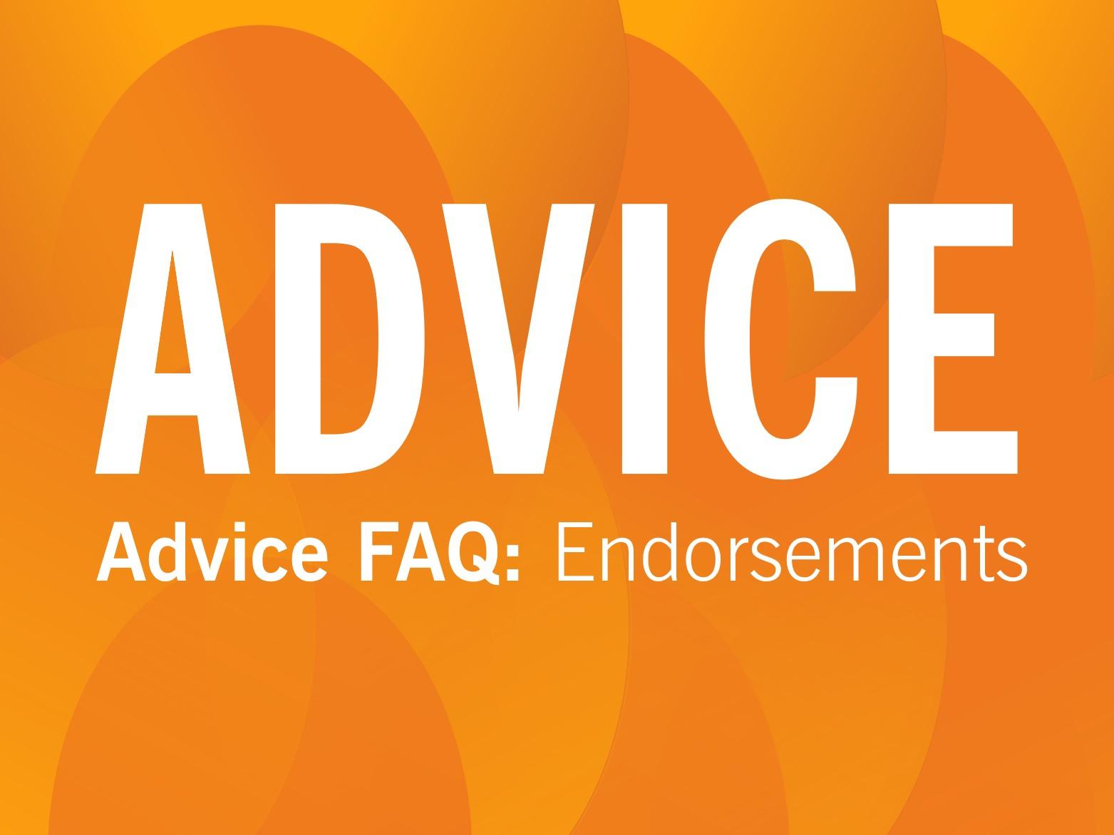 ADVICE: Endorsements