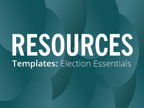 RESOURCES: Election Templates 2018