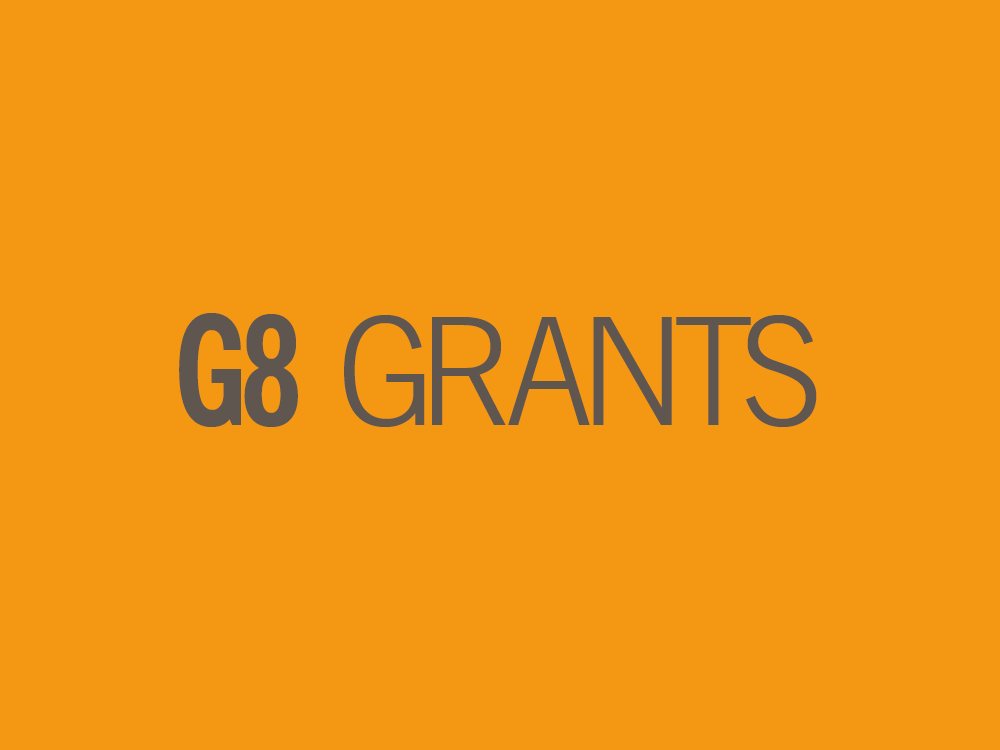 G8 grants: round two available – apply now (closing 30 Nov)