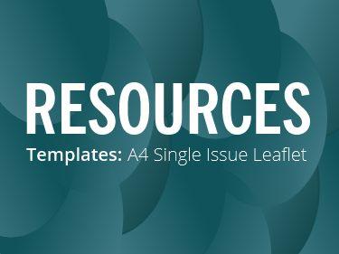 RESOURCES: A4 leaflet