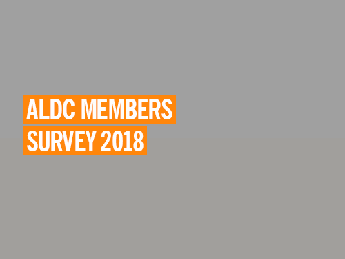 Annual ALDC Members Survey 2018