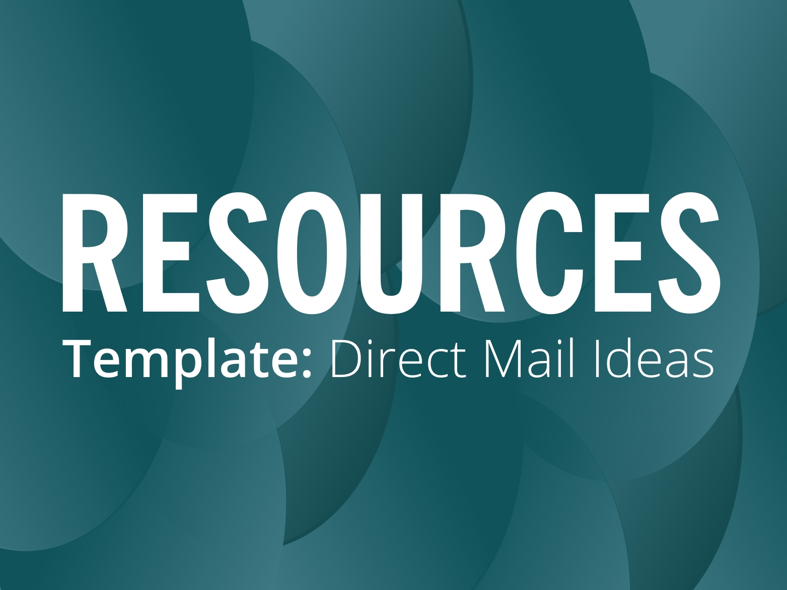RESOURCES: Template direct mail