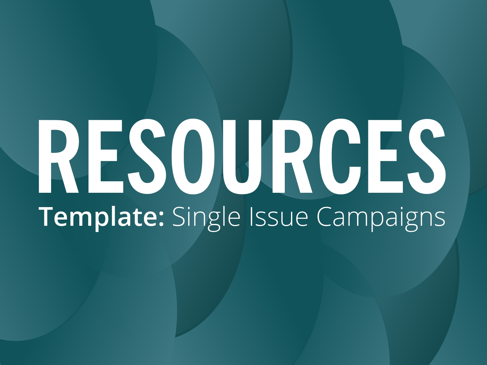 RESOURCES: Single issue campaign leaflet