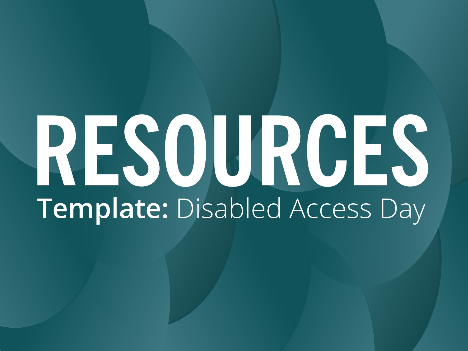RESOURCES: Disabled Access Day, Saturday 16 March – MyCouncillor template